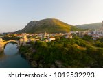 the old bridge in mostar in a... | Shutterstock . vector #1012532293