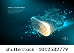 abstract image of a virtual... | Shutterstock .eps vector #1012532779