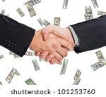 businessmen shaking hands... | Shutterstock . vector #101253760