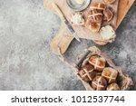 traditional easter treats cross ... | Shutterstock . vector #1012537744
