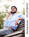 portrait of cool young arabic... | Shutterstock . vector #1012538410