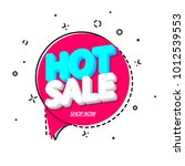 hot sale  speech bubble banner  ... | Shutterstock .eps vector #1012539553