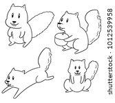 vector set of squirrel | Shutterstock .eps vector #1012539958