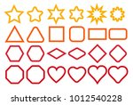 basic shape elements with sharp ... | Shutterstock .eps vector #1012540228