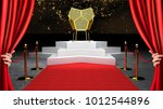 red event carpet  stair and... | Shutterstock . vector #1012544896
