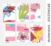hand drawn creative universal... | Shutterstock .eps vector #1012546168