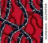 horror art style seamless... | Shutterstock .eps vector #1012549549