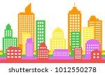 bright colorful cityscape... | Shutterstock .eps vector #1012550278