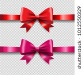 ribbon set isolated with... | Shutterstock .eps vector #1012550329