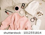 female fashion look with... | Shutterstock . vector #1012551814