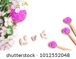 spa salt and stones  flower...   Shutterstock . vector #1012552048