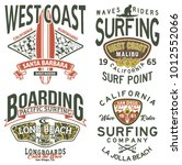 california west coast surfing... | Shutterstock .eps vector #1012552066