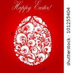 happy easter card | Shutterstock . vector #101255404
