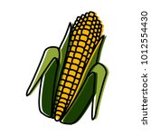 fresh corn isolated | Shutterstock .eps vector #1012554430