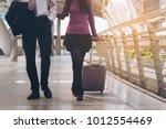 couple travellers walking in...   Shutterstock . vector #1012554469