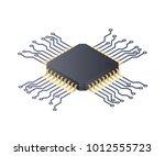 micro processor. circuit board... | Shutterstock .eps vector #1012555723