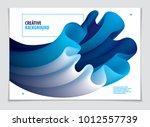 vector of modern abstract shape ... | Shutterstock .eps vector #1012557739