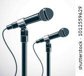 stage microphones vector... | Shutterstock .eps vector #1012559629
