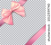 pink bow for packing gifts.... | Shutterstock .eps vector #1012559740