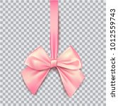 pink bow for packing gifts.... | Shutterstock .eps vector #1012559743