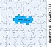 puzzle pieces vector background ... | Shutterstock .eps vector #1012567768