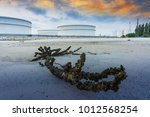 oil and gas refinery industrial ... | Shutterstock . vector #1012568254