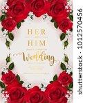 wedding invitation card... | Shutterstock .eps vector #1012570456