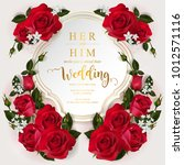 wedding invitation card... | Shutterstock .eps vector #1012571116