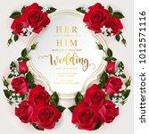 wedding invitation card... | Shutterstock .eps vector #1012571116