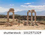 the ruins of the ancient city... | Shutterstock . vector #1012571329