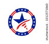 american circle stars emblem... | Shutterstock .eps vector #1012571860