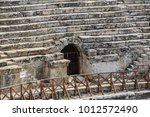 roman amphitheatre in the ruins ... | Shutterstock . vector #1012572490