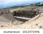 roman amphitheatre in the ruins ... | Shutterstock . vector #1012572496