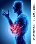 3d illustration of human elbow... | Shutterstock . vector #1012581088