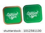 special offer stickers | Shutterstock .eps vector #1012581130