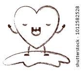 heart character kawaii with... | Shutterstock .eps vector #1012582528