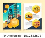 oil industry brochure template... | Shutterstock .eps vector #1012582678