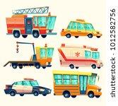 vector cartoon municipal city... | Shutterstock .eps vector #1012582756