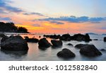landscape of beautiful sunset... | Shutterstock . vector #1012582840