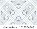 colorful mosaic seamless... | Shutterstock . vector #1012586560