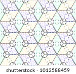 colorful seamless rhombus... | Shutterstock . vector #1012588459