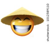 asian emoji isolated on white... | Shutterstock . vector #1012589110
