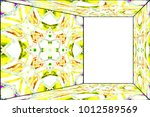 horizontal colorful perspective ... | Shutterstock . vector #1012589569