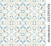 oriental vector seamless... | Shutterstock .eps vector #1012591456