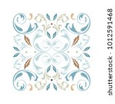 oriental vector square ornament ... | Shutterstock .eps vector #1012591468