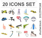 extreme sport cartoon icons in... | Shutterstock . vector #1012594168