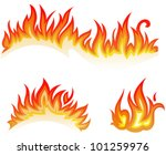 vector set  fire flames  ... | Shutterstock .eps vector #101259976
