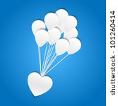 heart with balloons   paper cut ... | Shutterstock .eps vector #101260414