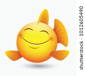 cute fish emoticon  emoji ... | Shutterstock .eps vector #1012605490