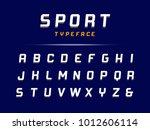 sport font. vector alphabet... | Shutterstock .eps vector #1012606114